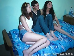 Teenagers love a threeway
