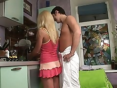 Hot young couple gets dirty in be..