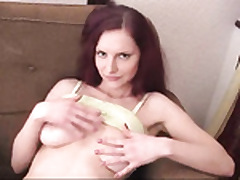 Hot cumload on high a redhead's babe's..
