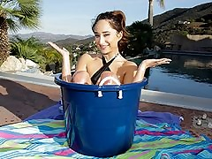 Lil' Teenager Pounds in a Bucket